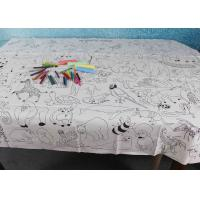 Buy cheap Double Soft Biodegradable Disposable Paper Tablecloth For Children Drawing from wholesalers