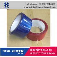 Wholesale Customized Promotion PET Tamper Security Seal Tape For Carton Sealing from china suppliers