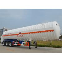 Wholesale Stainless Steel 304 LNG Tank Truck Trailer 3 Axles with 55000L High Vacuum from china suppliers