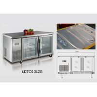 Wholesale 1500x800x800 Restaurant Under Counter Fridge 346L With Two Glass Door from china suppliers