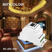 Wholesale DIN Rail DMX512 Constant Voltage Decoder DC12V-DC24V 5CH×5A transfer standard DMX512/1990 signal to PWM signal. from china suppliers