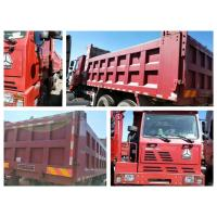 Wholesale 340hp EURO 2 Second Hand Truck Trailers 5400x2300x1500 Dump Box Red Color from china suppliers