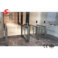 Wholesale Stainless Steel TurnstileGate with IC card/facial recognition device/fingerprint recognition device from china suppliers