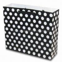 Wholesale Paper Gift Bag with Black and White Tone, OEW Orders are Welcome from china suppliers