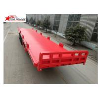 Wholesale 13 Meters 3 Axles Commercial Flatbed Trailer With Dual Line Brake System from china suppliers