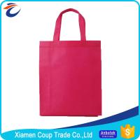 Wholesale Non Woven Fabric Shopping Bags Beautiful Red Color With Simple Design from china suppliers