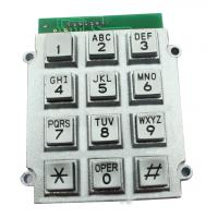 Wholesale Telephone Stainless Steel Metal Keypad With Flat Surface , 8 Pin Connector from china suppliers