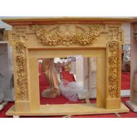 Wholesale Beige marble fireplace mantel from china suppliers
