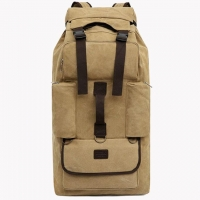 Wholesale 110 Liters Thick Canvas Long Distance Travel Hiking Backpack from china suppliers