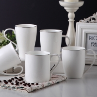 Wholesale Hotel Office 10oz Straight Eco Thin Fine Porcelain Coffee Mugs from china suppliers