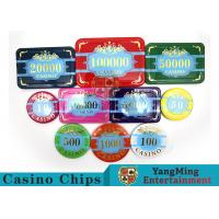 Wholesale Custom Acrylic Casino Poker Chip Set , New Style Poker Set With Numbered Chips from china suppliers