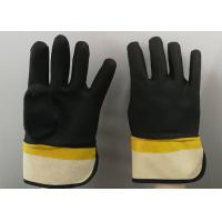 Wholesale Fine Sandy Finish PVC Coated Gloves Handling Abrasive Materials Liquid Proof from china suppliers