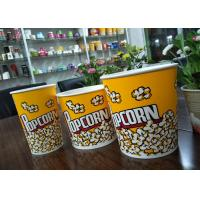 Wholesale Food Grade 64oz 85oz 130oz Paper Popcorn Buckets Generic Yellow from china suppliers