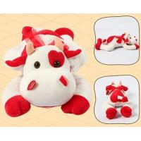 Promotion Gifts Lovely Red Cow Shape Custom Small Stuffed Animals