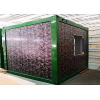 China Camouflage Color Flat Pack Container Homes With Galvanized Steel Frame Structure on sale