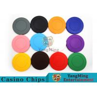 Quality Roulette Dedicated / Solid Color ABS Poker Chips Can Be Custom or Print Logo for sale