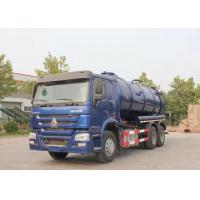Wholesale 336HP Blue Color Sewage Waste Truck  6x4 Waste Water Vacuum Suction Truck from china suppliers