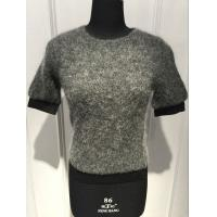 Women Slim Mohair Loose Knit Sweater With Elastic Strap At Bottom And Cuff OEM / ODM