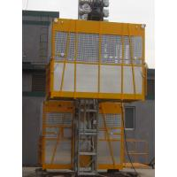 Wholesale VFD Building Cage Hoist Lifting Twin Cage 3200kg with High Speed from china suppliers