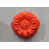 China Food Grade Handmade Sunflower Silicone Cake Baking Molds Non Stick Washable wholesale