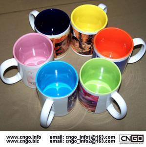 Export inside colors sublimation ceramic mug custom LOGO 7102 mark cup