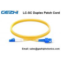 China Fiber Optical Patch Cord OS2 9/125 SM Duplex FTTH Jumper Cord wholesale