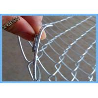 Heavy Duty Chain Link Fence Fabric , Twisted Edge Wire Fence Panels50 X 50mm
