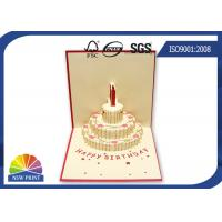 Wholesale Customized 3D Festival Greeting Cards Happy Cake for Birthday Pop Up Card from china suppliers