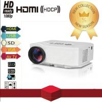 500 Lumens LED Full HD Video Home Theater Mini Projector Support HDMI