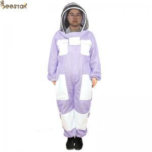Wholesale Purple 3 Layer Beekeeper Suit Ventilated Beekeeping Suit Beekeeper Uniform from china suppliers