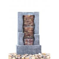 China Stone Step 3 Tier Outdoor Fountain , Exterior Water Fountains In Granite Color wholesale