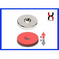 Wholesale Round / Square Countersunk Neodymium Magnets With Single / Double Hole from china suppliers