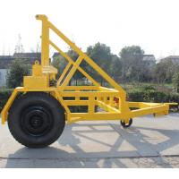 China Cable Drum Trailer Jack 5Ton With Hand Brake and Air Brake for Cable Transportation on sale