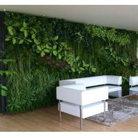 Synthetic vertical artificial plants wall green wall for Artificial plants for interior decoration