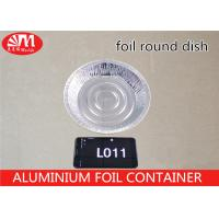 Wholesale Foods Packing Disposable Aluminium Foil Trays L011 250ml Volume Round Shallow Dish from china suppliers