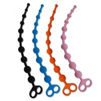 100% Medical Grade Silicone Anal Sex Toys Beads With Finger Loop