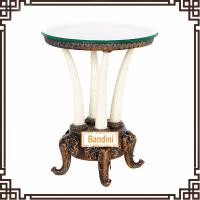 Buy cheap Chic and Elegant Antique Round Coffee Table Livingroom furniture antique table from wholesalers
