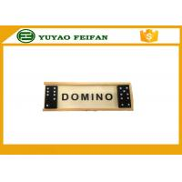 China Promotional Playing Game Double Six Dominoes Game Set With Wooden Box wholesale