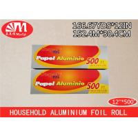 Wholesale ISO Heavy Duty Catering Aluminium Foil Roll 12In X 20 Micron X 500Ft With Metal Cutting from china suppliers