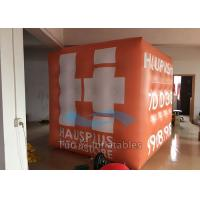 Wholesale Orange PVC 3D Cube Balloon Helium Filled Customized For Outdoor Decoration from china suppliers
