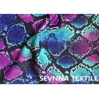 Wefting Knitted Swimwear Knit Fabric , Sublimation Printing Swimwear Spandex Fabric
