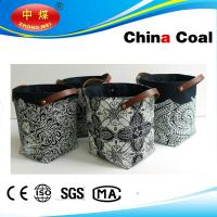 Wholesale Artistic Laundry Basket Leather Pu Materials Handwork from china suppliers