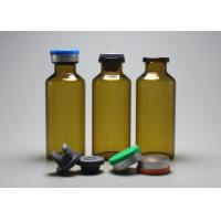 Buy cheap 30ml Brown Tubular Glass Vial Bottle With Lid For Injection from wholesalers