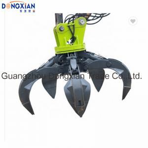 Wholesale Excavator Parts Grab Grapple Bucket Q345B Hardox PC200-7 Rotating Hydraulic Scrap from china suppliers