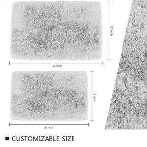 Wholesale Long Lasting 17'' X 24'' Latex Backed Bath Mats White Fluffy Bathroom Rugs from china suppliers