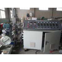 China Waste Recycled Water Ring Spaghetti Plastic Granules Machine , Double Stage Pellet Extruder on sale