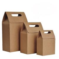 Wholesale Die Cut Personalized Brown Paper Bags High Tear Resistance Windowed Handle from china suppliers