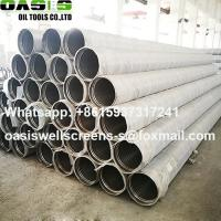 Wholesale SS316L Perforated Base Pipe with Vee Wire Wrapped Screens Jacket from china suppliers