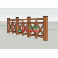 Durable Plastic Wood Fence , Horizontal Composite Fence No Contraction / Expansion