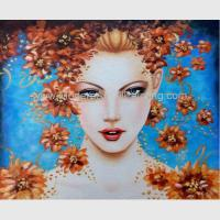 Buy cheap Contemporary Figurative Oil Painting Art Female Portrait Painting Newest Style from wholesalers